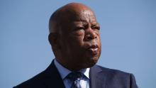John Lewis marches across Edmund Pettus Bridge to commemorate 55th anniversary of 'Bloody Sunday'