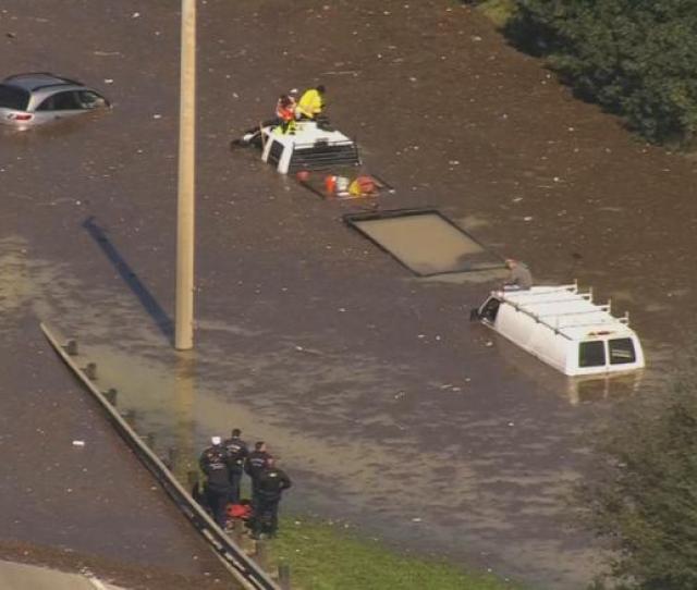 Houston Flooding Water Main Break Causes Major Flooding