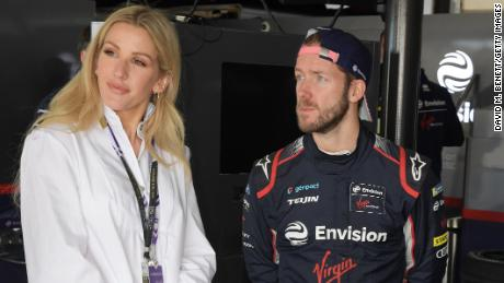 Goulding with Envision Virgin Racing driver Sam Bird in Marrakesh.