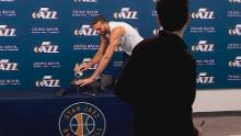 Utah Jazz center Rudy Gobert touched the microphones and recorders of the media after his March 9 press conference -- two days before he tested positive for coronavirus.