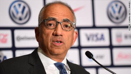 The president of US Soccer steps down as he apologizes for legal document's language