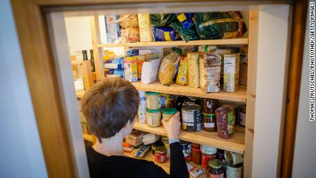 Some people have been stockpiling food as the coronavirus outbreak spreads.