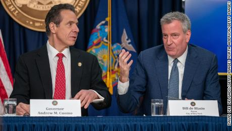 Spat over NYC protests reignites long running feud between Cuomo and de Blasio