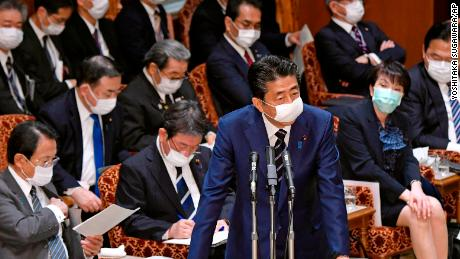 Anger as the Japanese Prime Minister offers two fabric masks per family while refusing to declare the coronavirus urgent