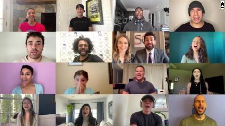 John Krasinski surprises young 'Hamilton' fan with a cast reunion