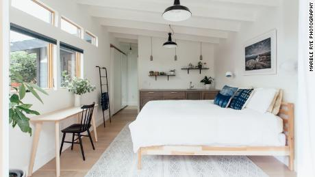 Diana and Greg Pasquali have converted an old garage in their backyard in Oakland, California to an Airbnb cottage.