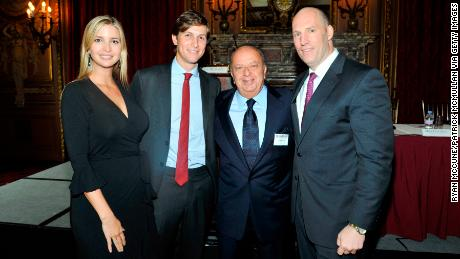Ivanka Trump, Jared Kushner, Stanley Chera and Rob Stuckey attend the New York Observer welcomes real estate masters to the Metropolitan Club on September 21, 2011 in New York.