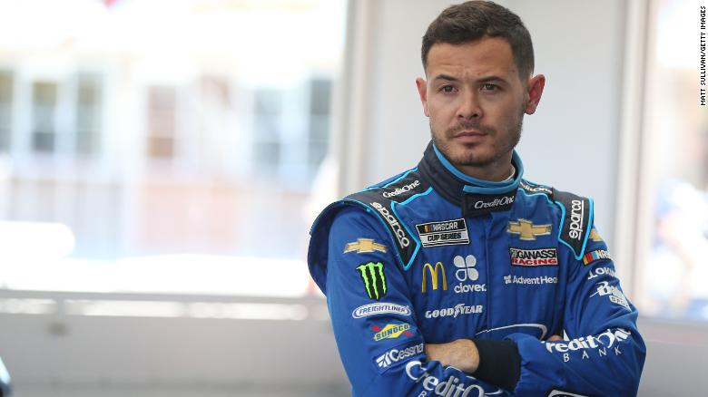 NASCAR driver Kyle Larson has been suspended for using a racial slur during an iRacing event.