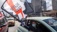 Protesters in Warsaw rally against a proposal to ban abortion.
