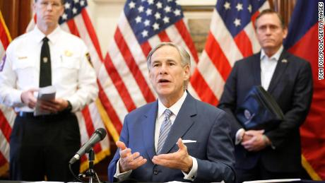 Texas Governor Greg Abbott announced that the U.S. Army Corps of Engineers and the state will set up a 250-bed field hospital at the Kay Bailey Hutchison Convention Center in downtown Dallas during a press conference at the Texas State Capitol in Austin, Sunday March 29. 2020.