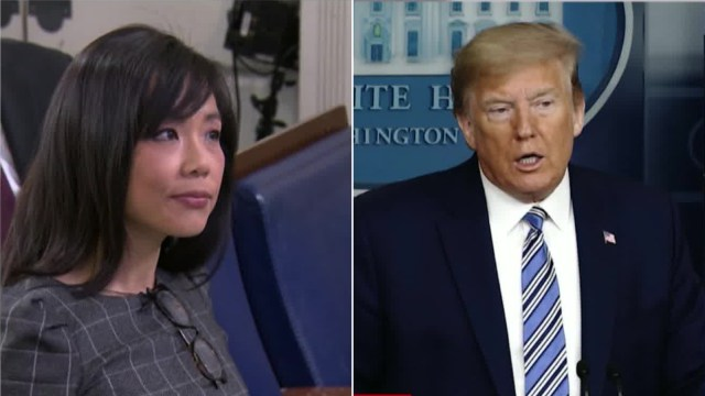 President Trump berates female reporter: Keep your voice down ...