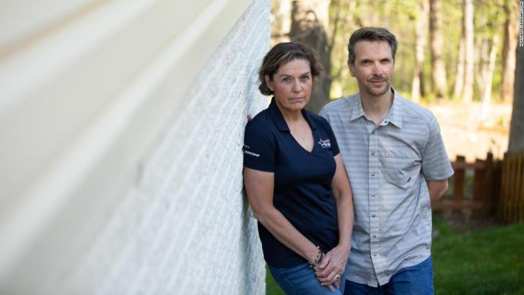 Matt and Maatje Benassi both work for the US Military. (Heather Fulbright / CNN)