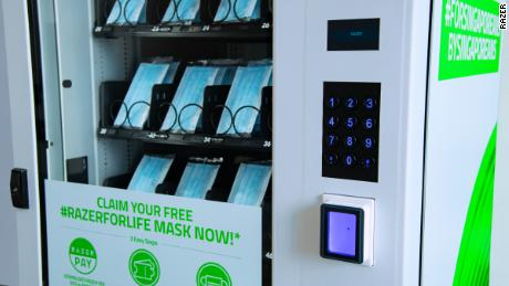 Razer is using vending machines to give out millions of free face masks in Singapore