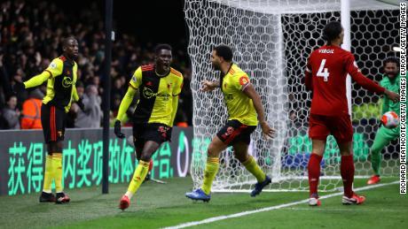 Watford stordito Liverpool per infliggere la Rossi' la prima sconfitta della stagione di Premier League.
