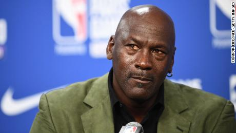 Charlotte Hornets owner and former NBA star Michael Jordan is seen at the AccorHotels Arena in Paris on January 24.