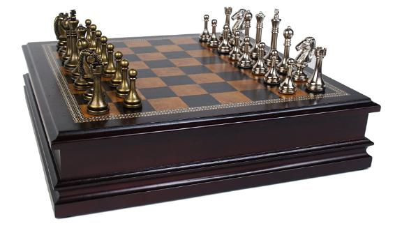 Classic Game Collection Metal Chess Set