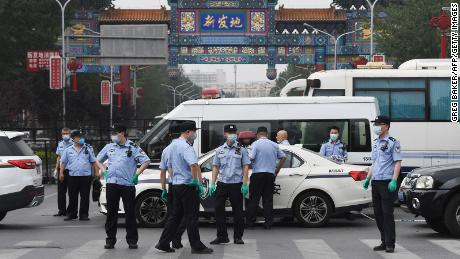Xinfadi, Beijing's largest wholesale food market, was the epicenter of the coronavirus outbreak in the city in June.