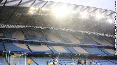 The weather was inclement in Manchester on Wednesday.