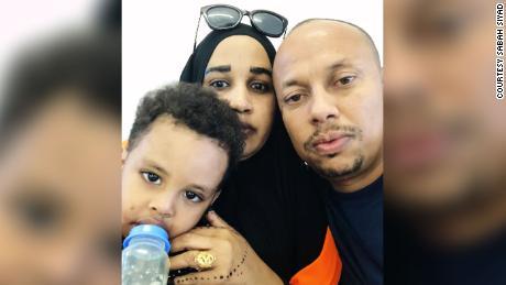 Saif Ali Saif was able to receive visits from Sabah Siyad and their son Sammi before the coronavirus pandemic.