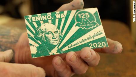 Moneda de madera de Tenino - Imagen tomada de CNN