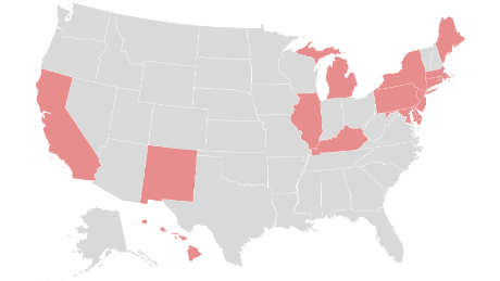 These are the states that require people to wear masks when they are in public