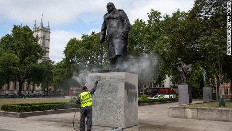The government has launched legislation to protect historic statues, such as the one at Winston Churchill in Parliament Square, London.