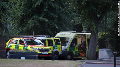 Emergency services at Forbury Gardens in downtown Reading responded to the incident, where three people died.