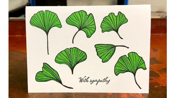 Gingko Sympathy Card