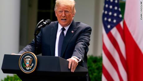 Trump, in contrast, spoke maskless at a news conference with Polish President Andrzej Duda at the White House last Wednesday -- but had every member of the Polish delegation tested for coronavirus before the meeting.