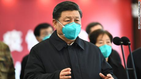 It's not just Trump's friends at home who take precautions. Much earlier in the pandemic, Chinese President Xi Jinping wore masks, setting an example with his blue N95 during a video address to medical workers in Wuhan, China, in March.