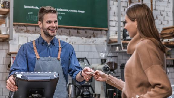 Get a $5 reward for every $10 you spend at eligible small businesses with your American Express card.