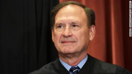 Associate Justice Samuel Alito poses for the official group photo at the US Supreme Court on November 30, 2018 in Washington, DC.