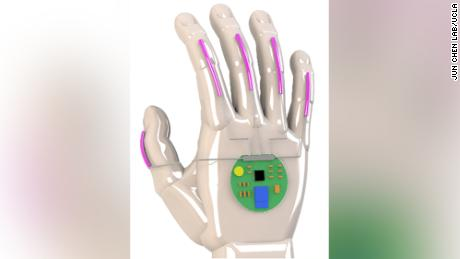 A digital rendering of the glove.
