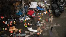 City crews on July 1 dismantle the CHOP.