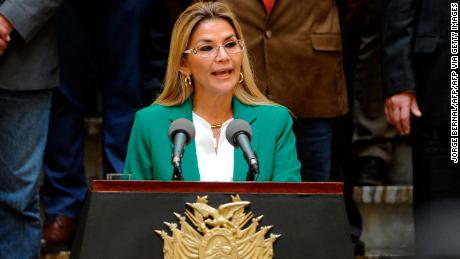 The Acting President of Bolivia, Jeanine Anez.