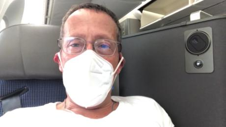 What happened on Richard Quest's first flight in four months