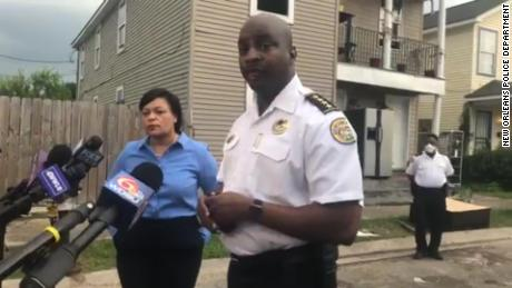 """New Orleans Police Chief Shaun Ferguson briefed reporters on the killing of a 9-year-old boy, which he called an """"unthinkable act."""""""