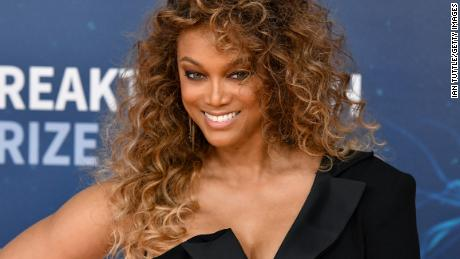 Tyra Banks attends the 2020 Breakthrough Prize Red Carpet at NASA Ames Research Center on November 03, 2019 in Mountain View, California.