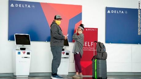 Delta Air Lines announces new health checks for passengers who cannot wear masks and asks them to consider staying at home
