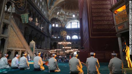 The Turkish Hagia Sophia organizes the first Friday prayers since its conversion into a mosque