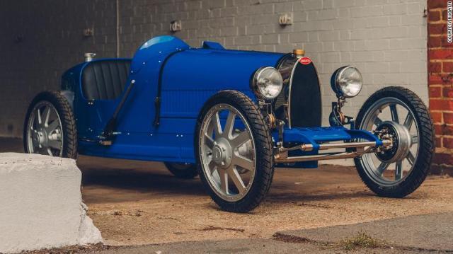 The Bugatti Baby II is an electric replica of the classic Bugatti Type 35.