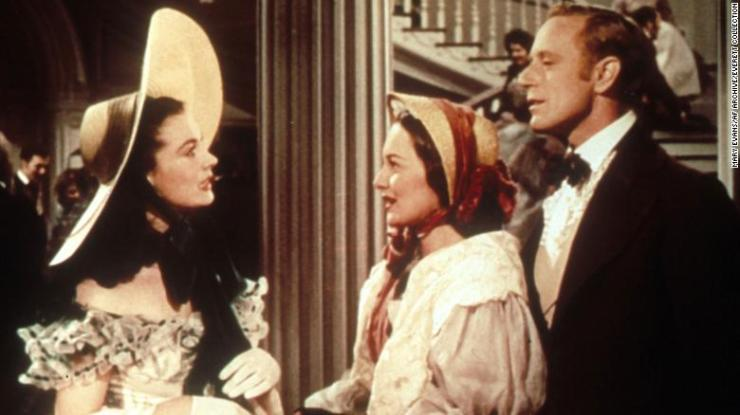 """Vivien Leigh, Olivia De Havilland and Leslie Howard in """"Gone with the Wind."""""""