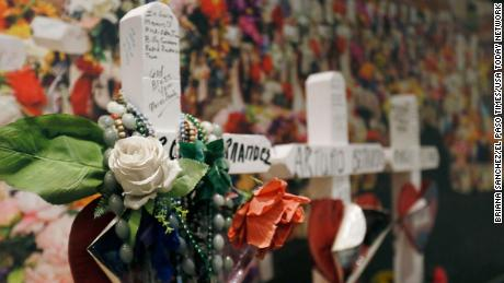Several objects from a makeshift memorial that formed behind Walmart after the shooting are part of a new exhibit at the El Paso History Museum.