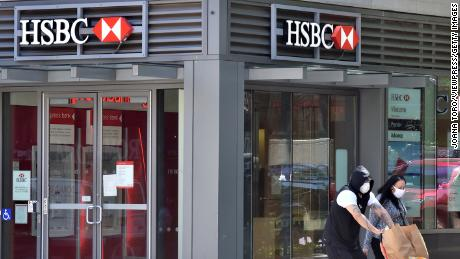 HSBC posts sharp fall in profits and warns of 'challenging' US-China tensions