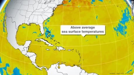 Higher sea surface temperatures can fuel more frequent and stronger hurricanes.