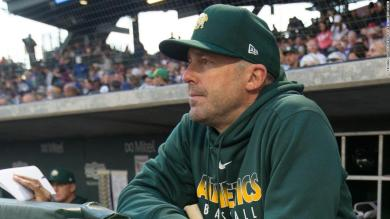 Oakland A's bench coach apologizes for using gesture that looks like Nazi salute