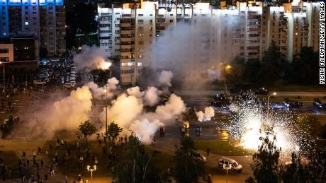 Belarus was seeing tense protests and clashes ahead of the presidential election when the Russians arrived in Minsk.