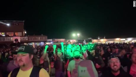 Rock band Smash Mouth performed to a packed crowd of hundreds during the Sturgis Motorcycle Rally