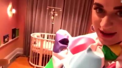 Katy Perry gives tour of baby nursery