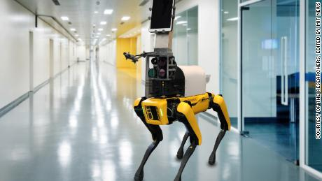 Researchers have built a dog-like robot nurse to remotely measure patients' vital signs